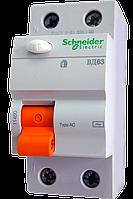 УЗО ВД63 2P 25А 30мА Schneider Electric (дифференциальный выключатель)