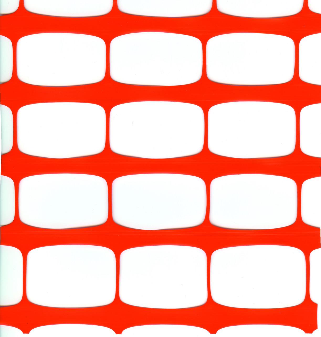 Сетка пластиковая оградительная (1,0мх50м) 80*35 оранжевая