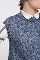SEWEL Жилет QW433 (46-48, синий меланж, 70% акрил/ 30% шерсть), фото 1