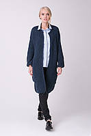 SEWEL Кардиган XW466  (46-48, джинс, 70% акрил/ 30% шерсть)