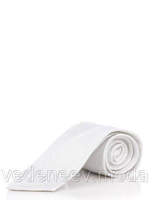 Шелковый белый галстук классический