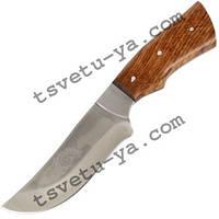 Нож охотничий Спутник Барс с рисунком (ручная работа Украина), эксклюзивный, подарочный, кожаные ножны