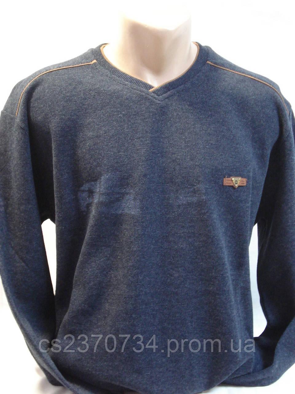 Футболка мужская T-RING  теплая джинс. цвет (3,4,5,6XL)