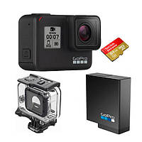 Екшн-камера GoPro HERO 7 Black+Акумулятор Rechargeable Battery+Бокс Armageddon+Карта памяті 64 гб О