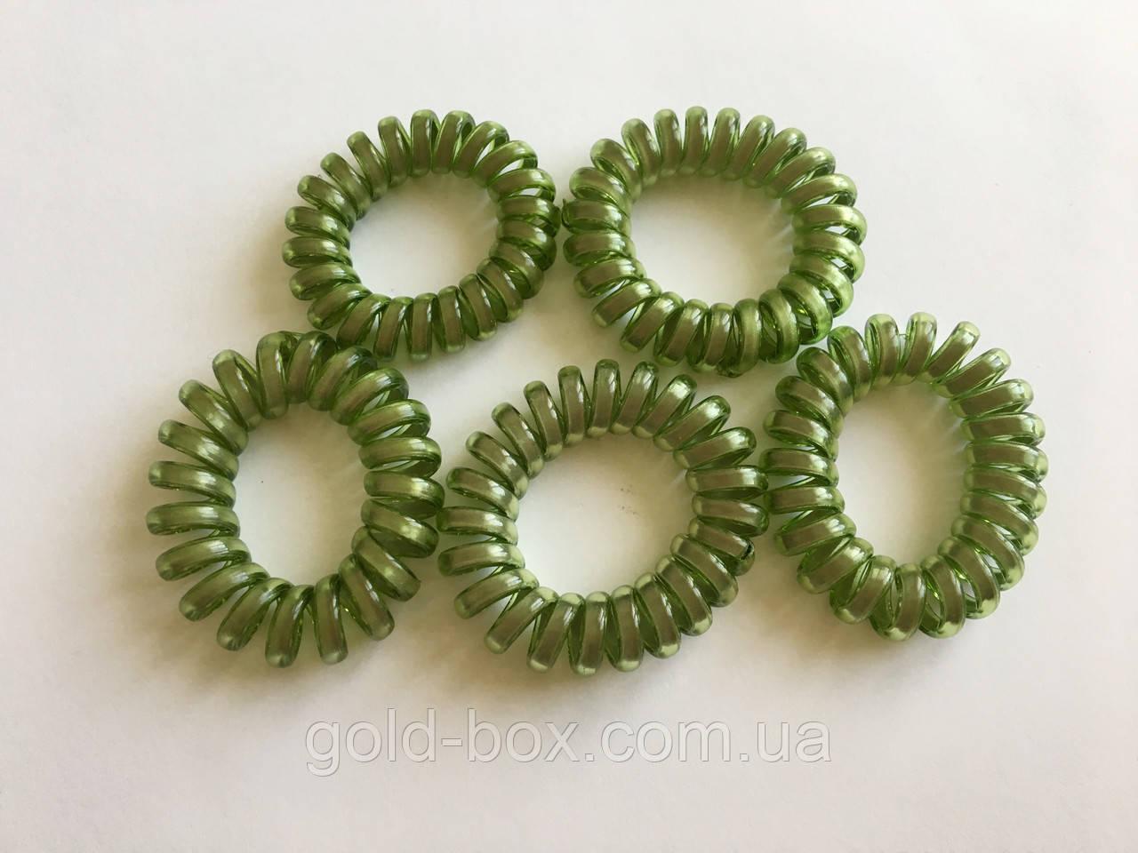 Резинки «Спиралька» набор 5 шт зелень