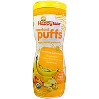 Органическое детское питание, паффсы органические колечки, Банан, (60 г) Nurture Inc. (Happy Baby)