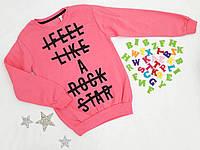 "Батник на девочку ""Star"", байка, размер 140-176, розовый, фото 1"