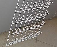Торговая полка для реализации газет,журналов,открыток,конвертов навесная корзиночная 4 ряда по 4 ячейки, фото 1