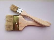 Пензель флейцевий, дерев'яна ручка  75 мм (Україна)