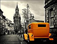 Виниловые фотообои Желтое такси