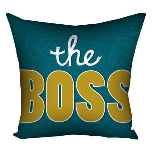Подушка з принтом The Boss (3P_FAM021)