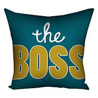 Подушка с принтом The Boss (3P_FAM021)
