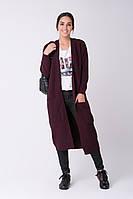 SEWEL Пальто CW465 (46-48, брусничный, 60% акрил/ 30% шерсть/ 10% эластан)