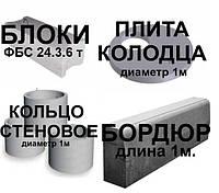 ЖБИ (бордюр, кольца. блоки ФБС, плита забора ПЗ-1. плита колодца)