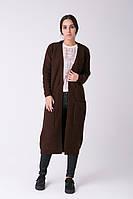 SEWEL Пальто CW465 (46-48, коричневый, 60% акрил/ 30% шерсть/ 10% эластан)