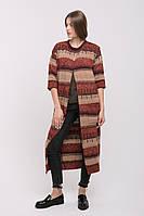 SEWEL Пальто CW428 (50-52, терракот меланж, кемел, коричневый, 70% акрил/ 30% шерсть)