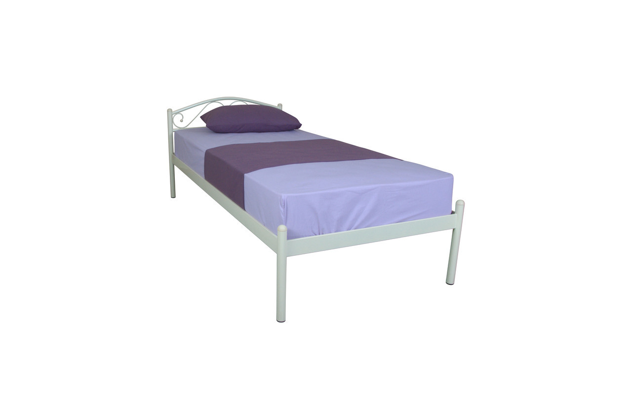 Кровать Элис  односпальная  190х80, бордовая