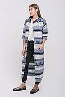SEWEL Пальто CW428 (46-48, серый меланж, светло-серый, синий, 70% акрил/ 30% шерсть), фото 1