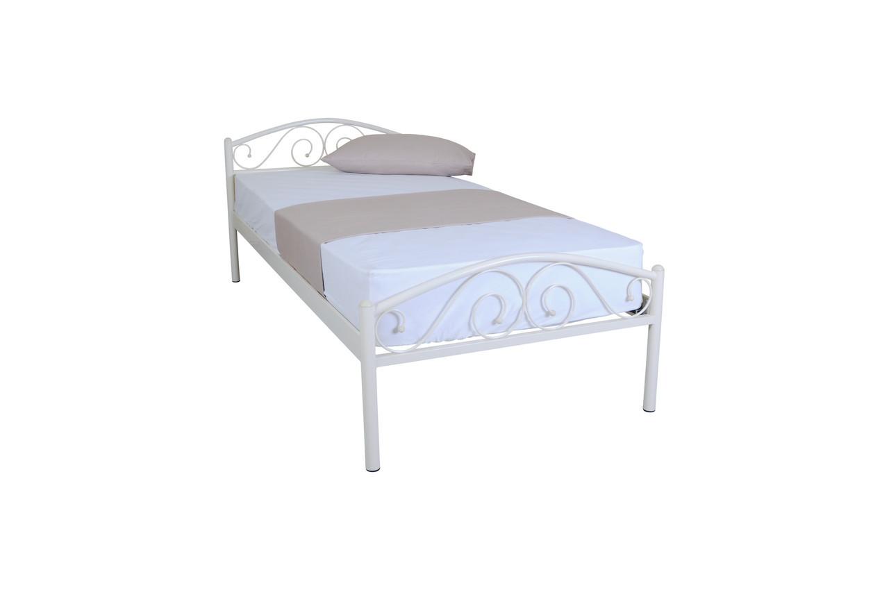 Кровать Элис Люкс односпальная  200х80, белая