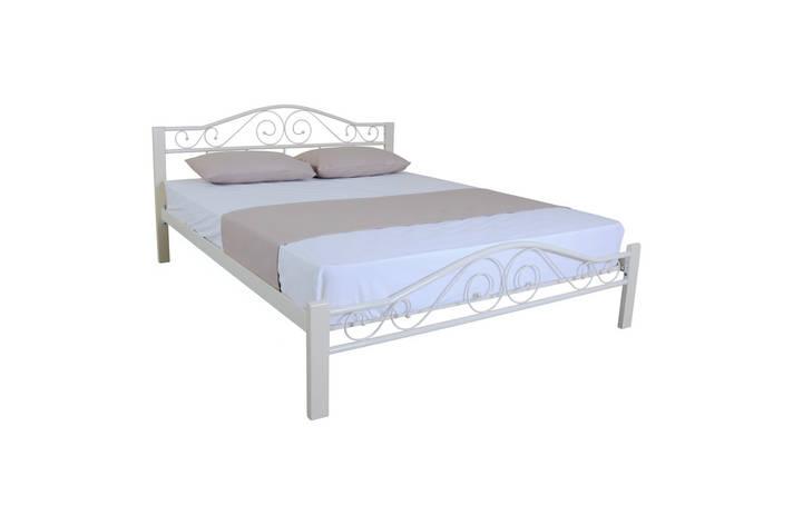 Кровать Элис Люкс Вуд двуспальная 200х160, бежевая, фото 2