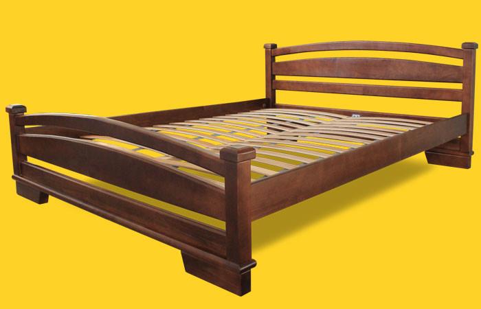 Кровать полуторная с натурального дерева в спальню ТИС АТЛАНТ 2 120*190 сосна