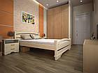 Кровать полуторная с натурального дерева в спальню ТИС АТЛАНТ 2 120*190 сосна, фото 3