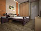 Кровать полуторная с натурального дерева в спальню ТИС АТЛАНТ 2 120*190 сосна, фото 4