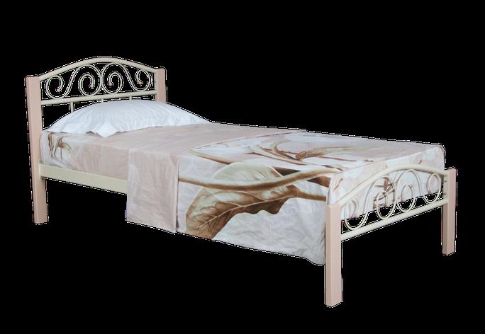 Кровать  Элис Люкс Вуд односпальная 200х80, белая, фото 2