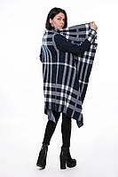 SEWEL Пальто CW373 (46-48, синий , белый, 60% акрил/ 30% шерсть/ 10% эластан), фото 1