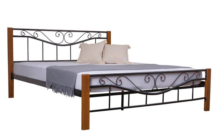Кровать Эмили двуспальная  190х140, коричневая, фото 2