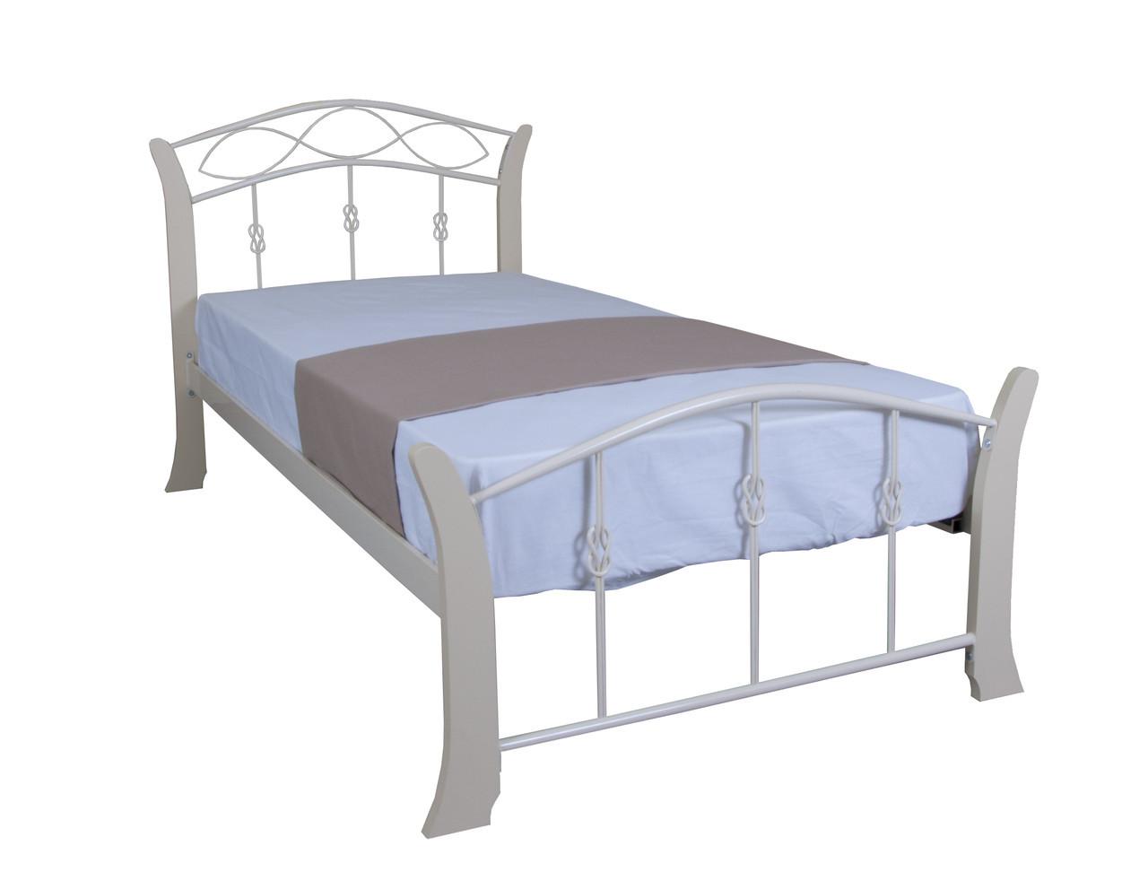 Кровать Летиция Вуд односпальная   200х80, бирюзовая