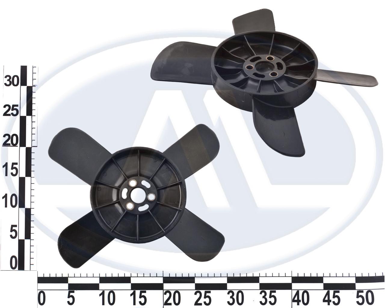 Крыльчатка вентилятора 2101-2107 черная с металлической втулкой