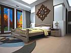 Кровать полуторная с натурального дерева в спальню ТИС АТЛАНТ 7 120*190 сосна, фото 2