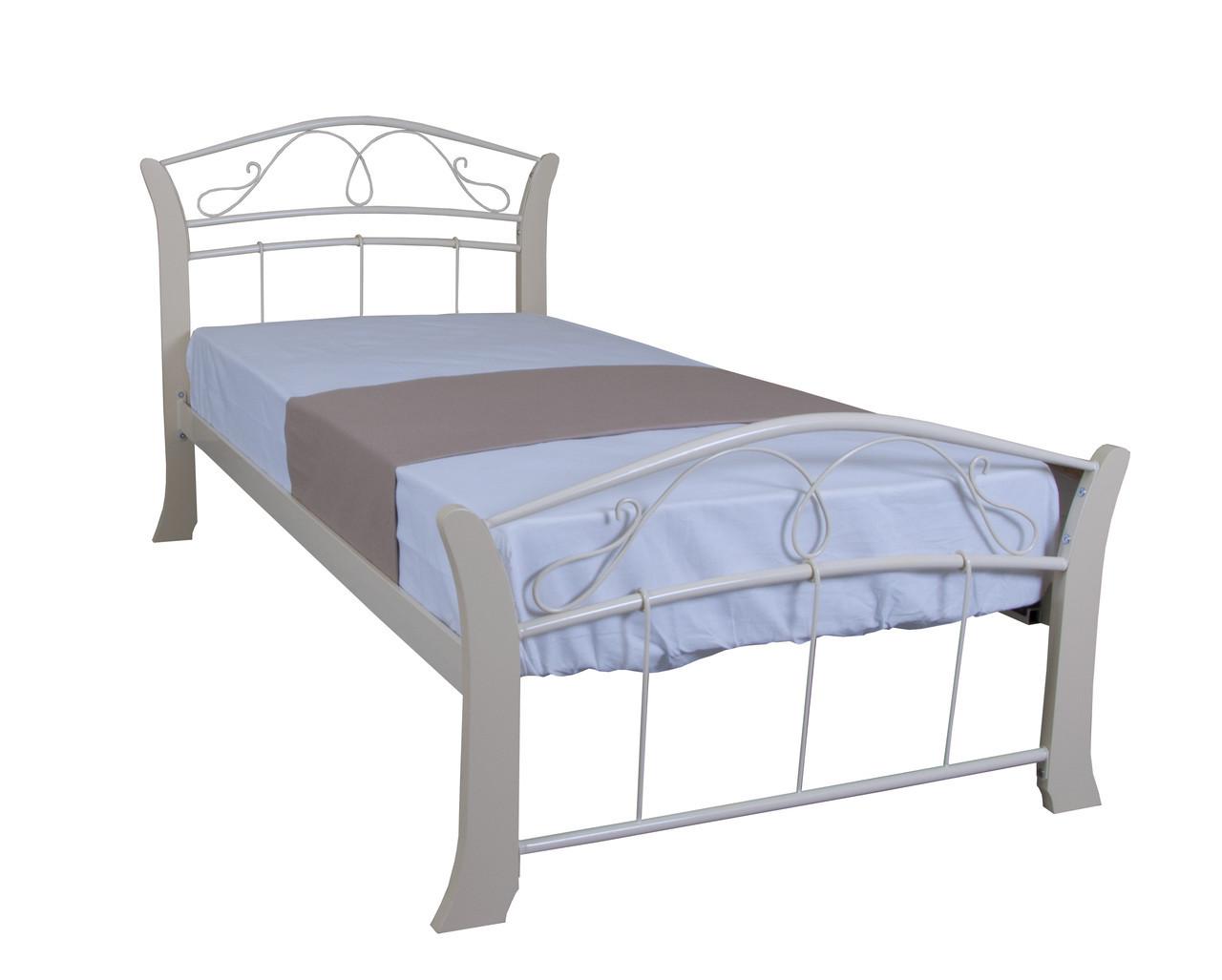 Кровать Селена Вуд односпальная 200х90, бордовая