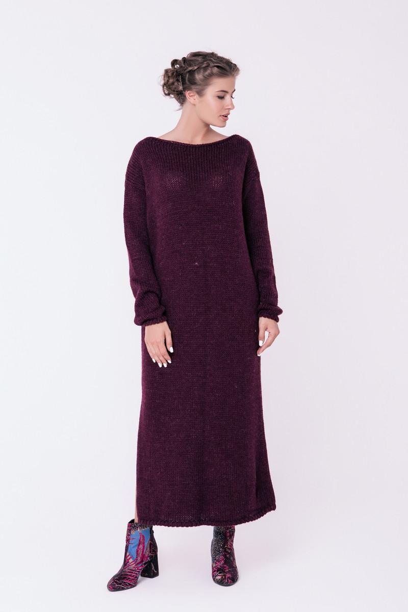 SEWEL Платье PW404 (46-48, бордо, 60% акрил/ 30% шерсть/ 10% эластан)