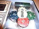 Покерный набор 2 колоды карт, 100 фишек, фото 4