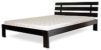 Кровать полуторная с натурального дерева в спальню ТИС ДОМІНО 1 120*190 сосна