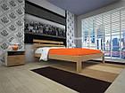 Кровать полуторная с натурального дерева в спальню ТИС ДОМІНО 1 120*190 сосна, фото 2