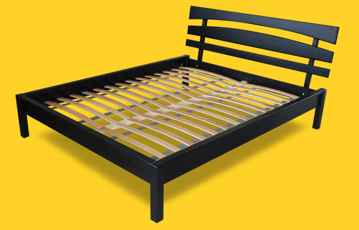 Кровать полуторная с натурального дерева в спальню ТИС ДОМІНО 3 120*190 сосна