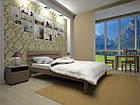 Кровать полуторная с натурального дерева в спальню ТИС ДОМІНО 3 120*190 сосна, фото 2
