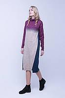 SEWEL Платье PW389 (50-52, синий , кемел, фуксия, 60% акрил/ 30% шерсть/ 10% эластан), фото 1