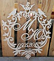 Свадебная монограма, декор на свадьбу