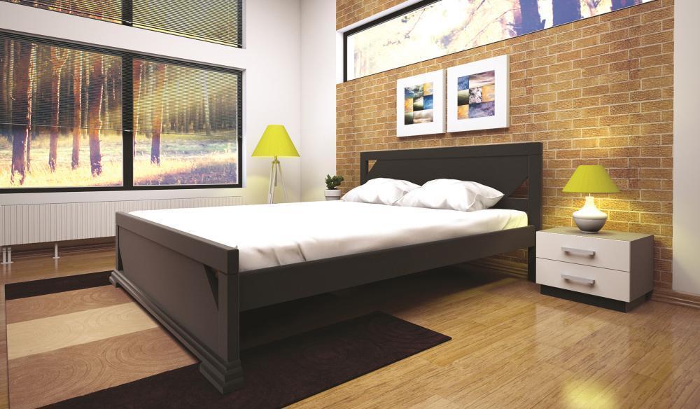 Кровать полуторная с натурального дерева в спальню ТИС ЕЛЕГАНТ 1 120*190 сосна