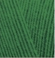 Пряжа Alize Lanagold Fine зеленая трава №118