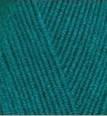 Пряжа Alize Lanagold Fine павлиновая зелень №640