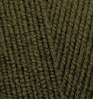 Пряжа Alize Lanagold Fine оливковый зеленый №214