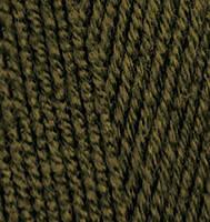 Пряжа Alize Lanagold 800 оливковый зеленый №214