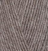 Пряжа Alize Lanagold 800 коричневый меланж №240