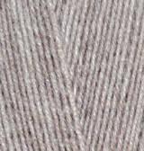 Пряжа Alize Lanagold 800 светло-коричневый меланж №207