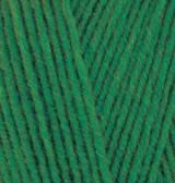 Пряжа Alize Lanagold 800 зеленая трава №118
